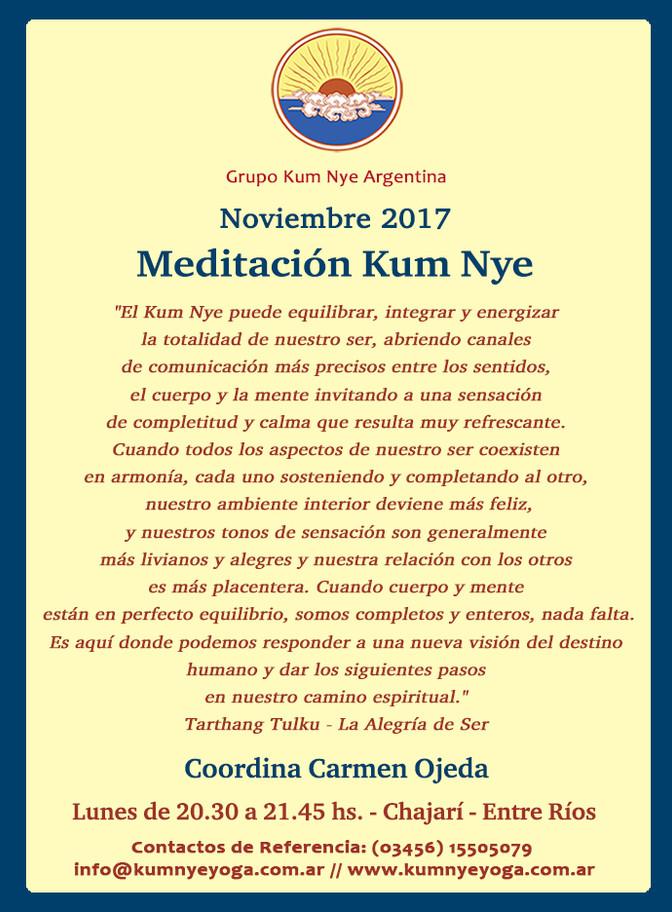 Meditación Kum Nye en Chajarí- Entre Ríos • Noviembre 2017