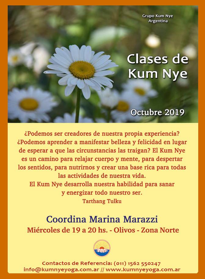Clases de Kum Nye - Miércoles - Olivos - Octubre 2019