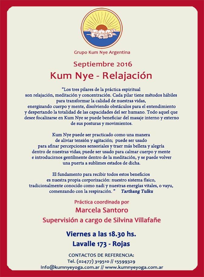 Kum Nye - Relajación en Rojas • Septiembre 2016