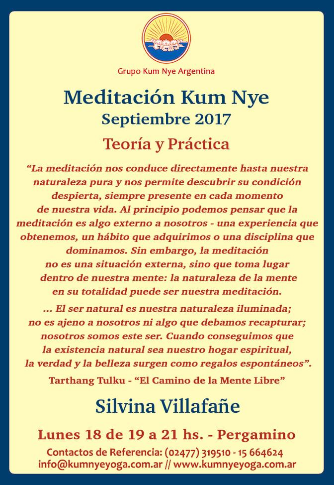 Meditación Kum Nye en Pergamino • Septiembre 2017