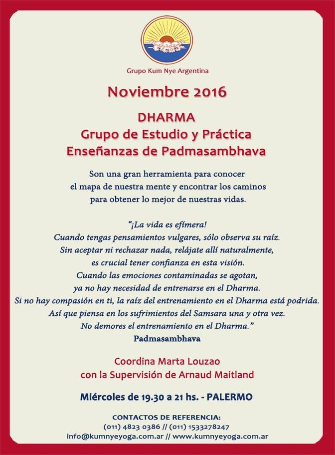 DHARMA • Noviembre 2016