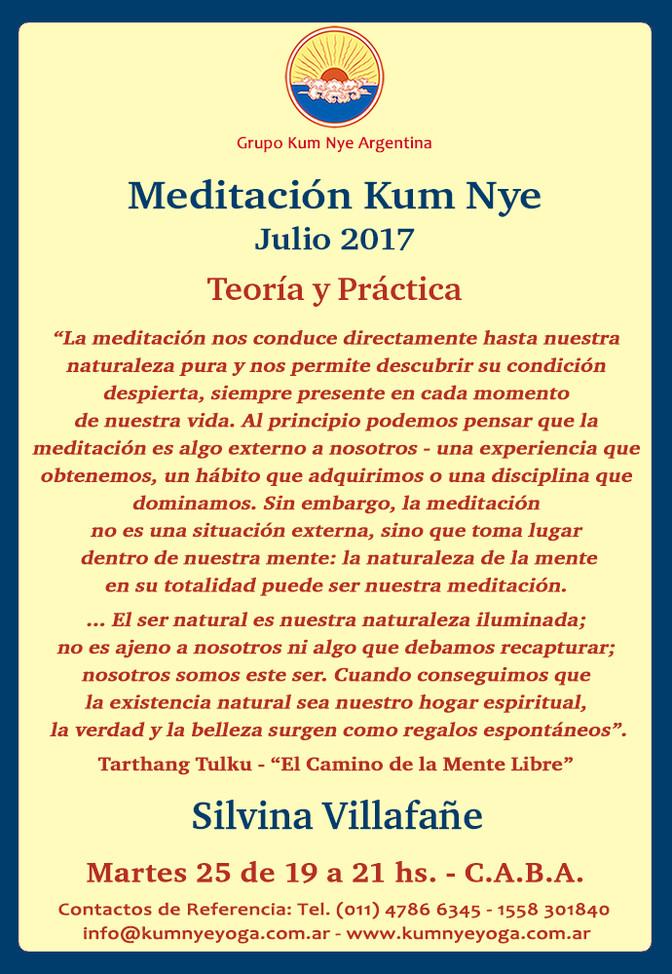 Meditación Kum Nye en C.A.B.A. - Teoría y Práctica • Julio 2017