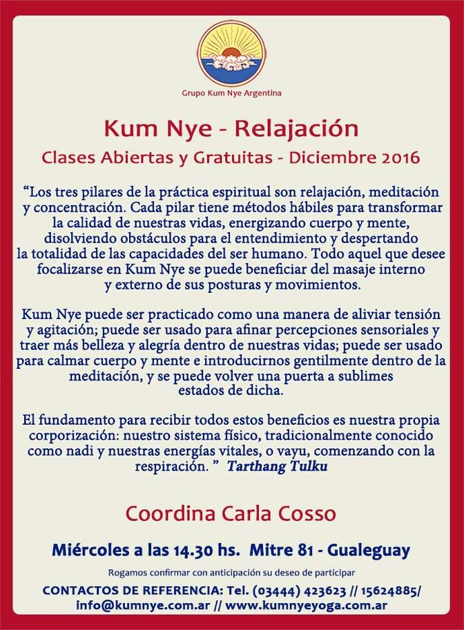Kum Nye - Relajación en Gualeguay • Diciembre 2016