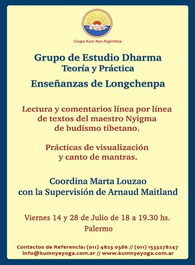 Grupo de Estudio Dharma - Enseñanzas  de Longchenpa • Julio 2017