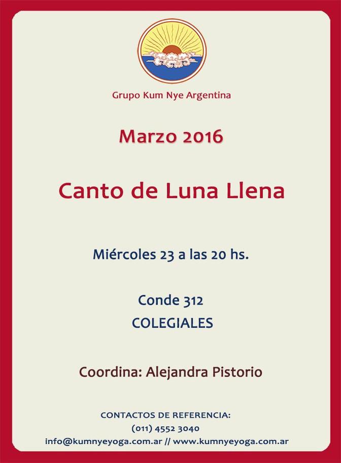 Canto de Luna LLena • Marzo 2016