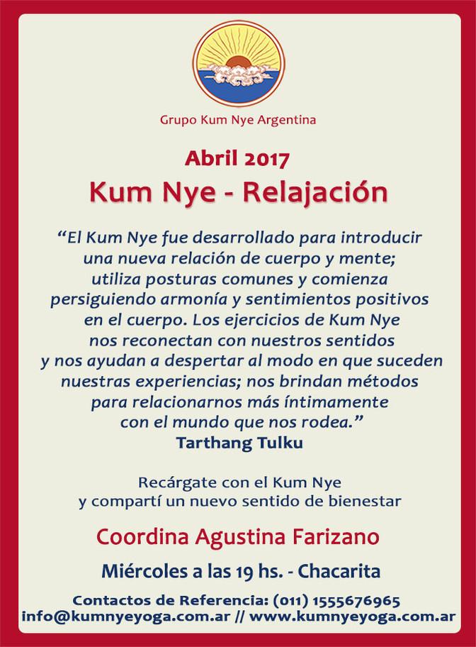Kum Nye - Relajación en Chacarita • Abril 2017