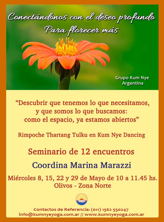 """Seminario de 12 Encuentros: """"Conectándonos con el deseo profundo Para florecer más"""" - Oliv"""