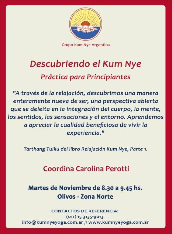 Descubriendo el Kum Nye - Práctica para Principiantes • Noviembre 2016