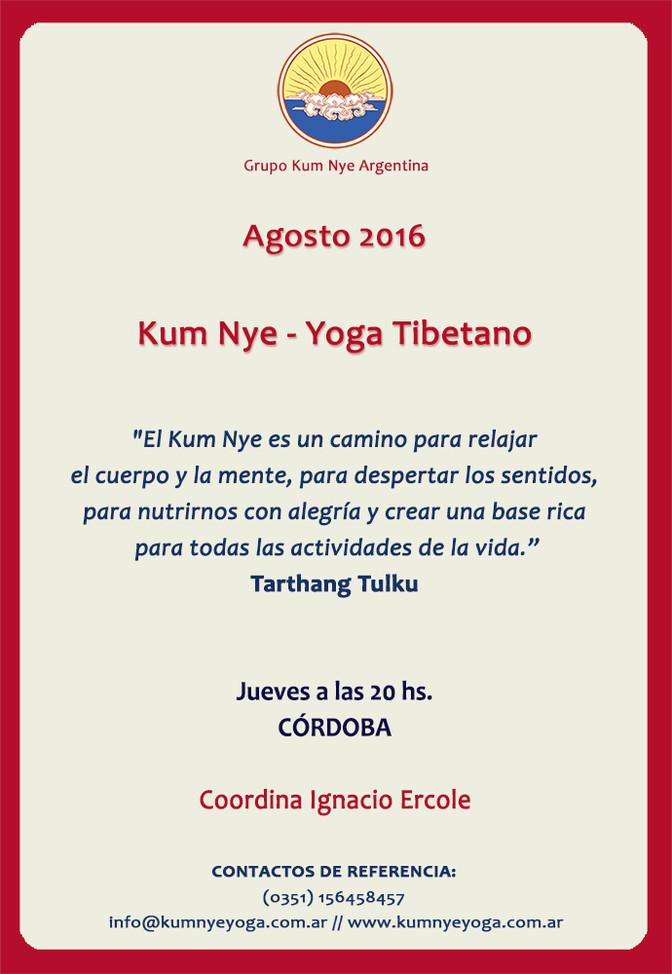 Clases de Kum Nye en Córdoba  • Agosto 2016