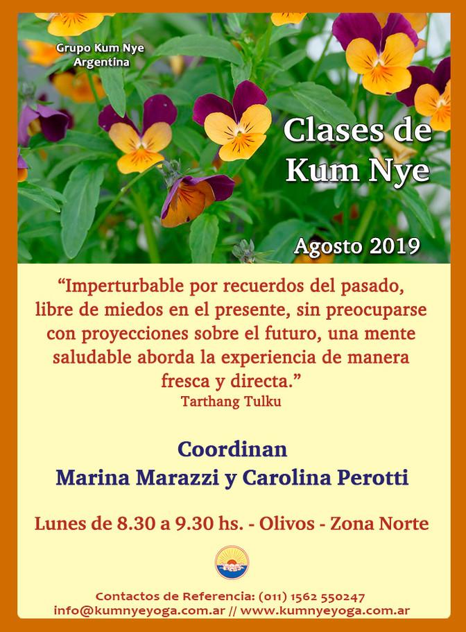 Clases de Kum Nye - Olivos - Agosto 2019