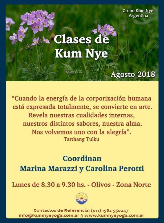 Clases de Kum Nye en Olivos - Zona Norte • Agosto 2018