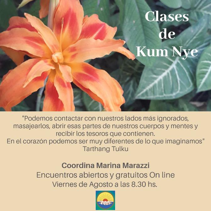 Clases de Kum Nye On line - Viernes a las 8.30 hs.