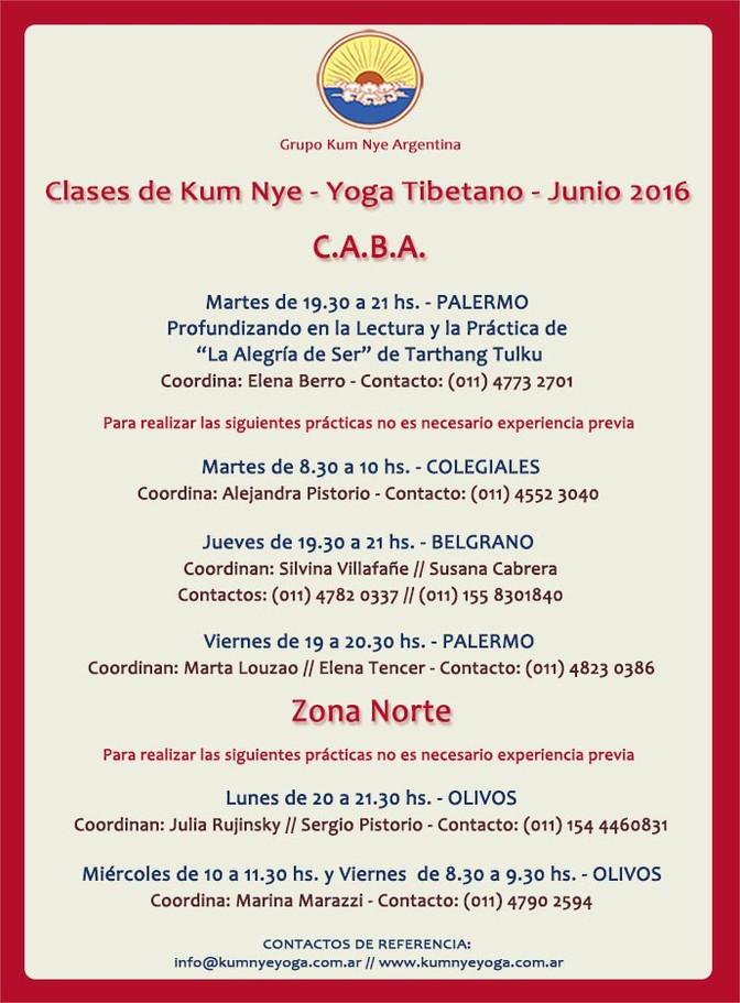Clases de Kum Nye - Yoga Tibetano • Junio 2016