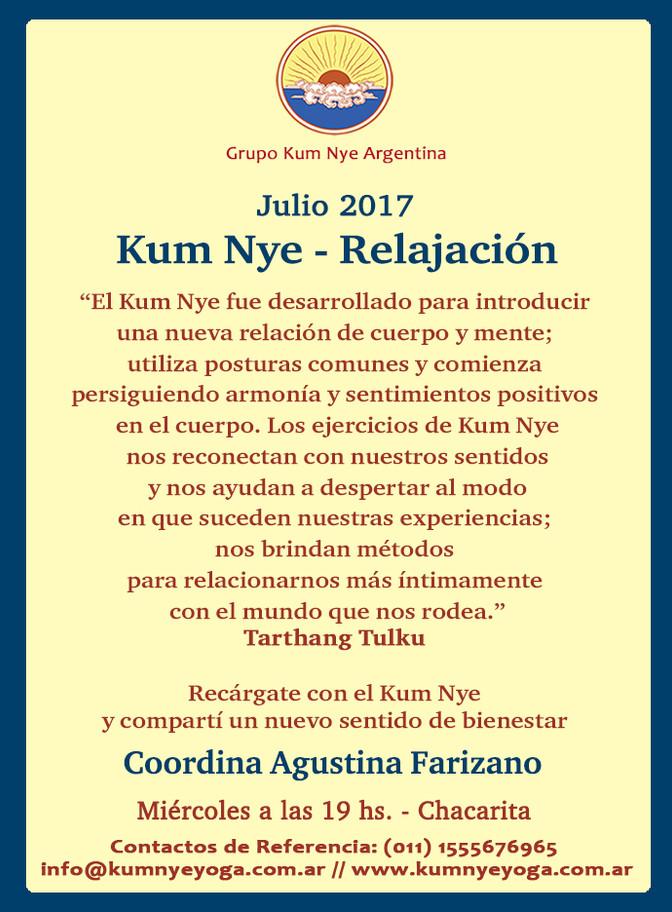 Kum Nye - Relajación en Chacarita • Julio 2017