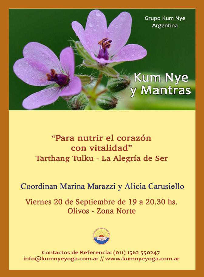 Kum Nye y Mantras - Olivos - Septiembre 2019