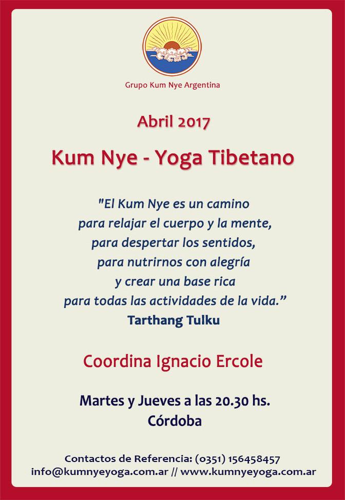 Kum Nye - Yoga Tibetano en Córdoba • Abril 2017