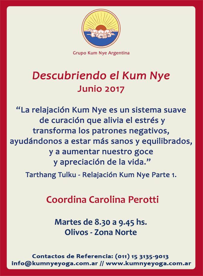 Descubriendo en Kum Nye en Olivos - Zona Norte • Junio 2017
