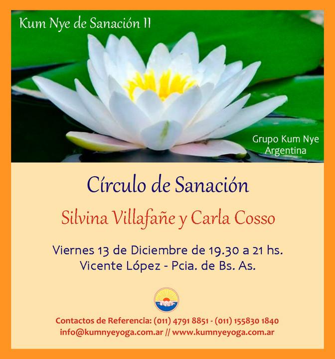 Círculo de Sanación en Vicente López -Provincia de Buenos Aires - Diciembre 2019