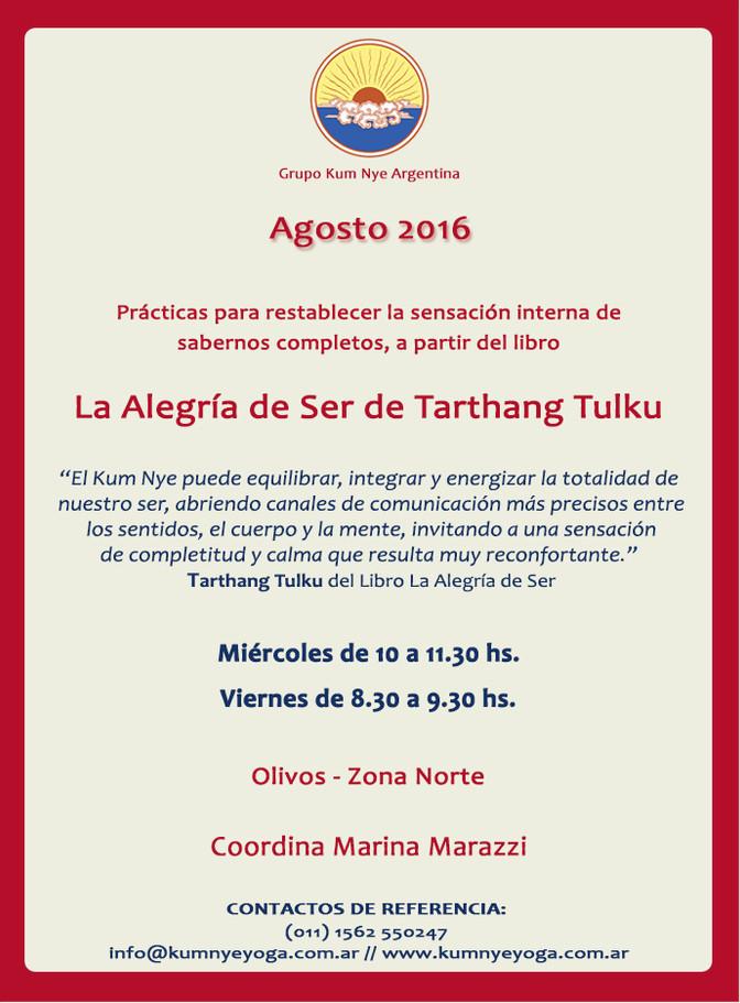 La Alegría de Ser de Tarthang Tulku en Olivos  • Agosto 2016