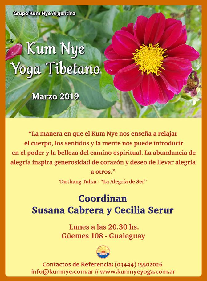 Kum Nye  - Yoga Tibetano en Gualeguay - Marzo de 2019