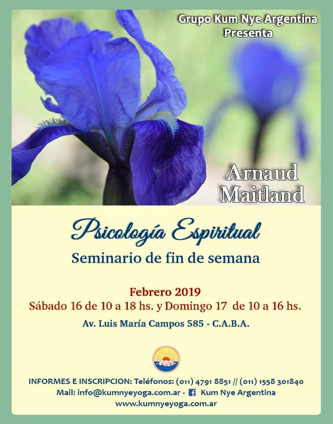 """Arnaud Maitland en Argentina - """"Piscología espiritual"""" - C.A.B.A. - Febrero 2019"""