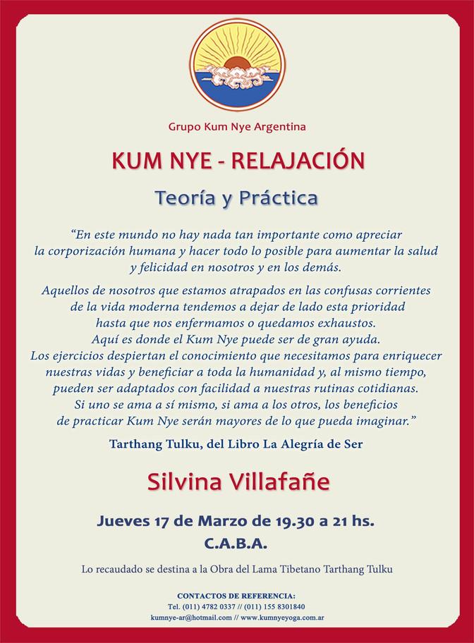 Kum Nye Relajación - Teoría y Práctica • Marzo 2016