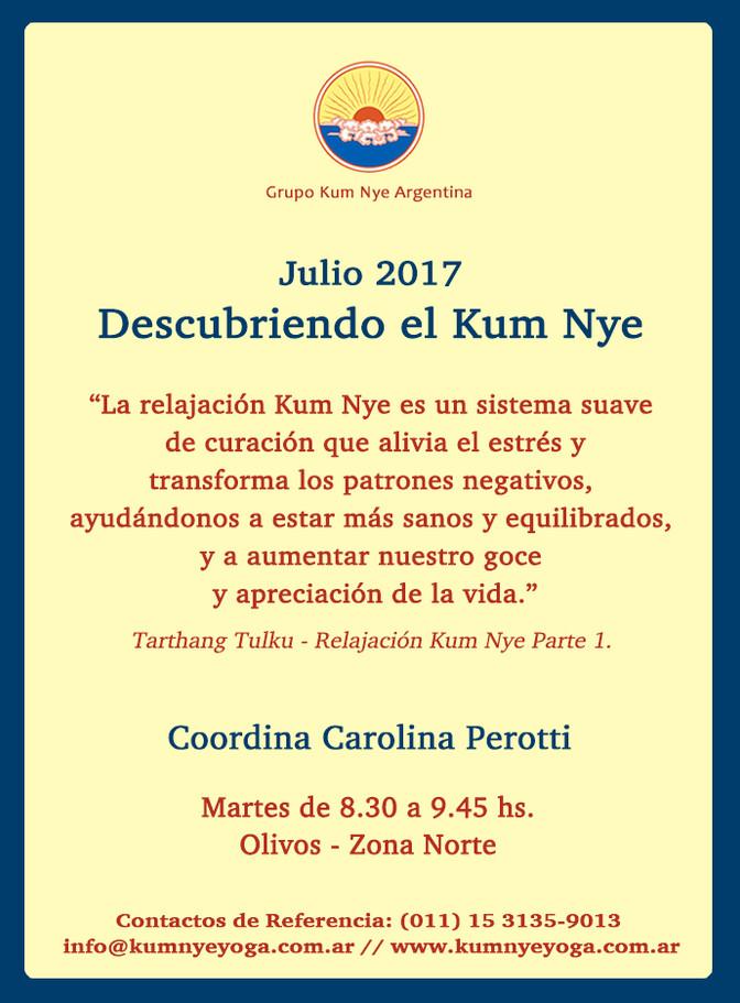 Descubriendo el Kum Nye en Olivos - Zona Norte • Julio 2017