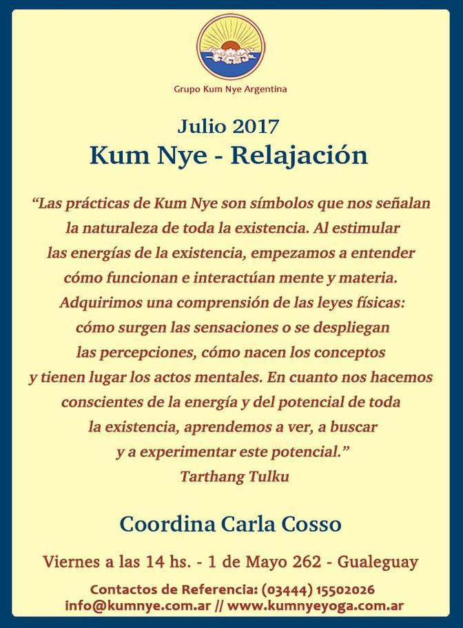 Clases de Kum Nye - Relajación en Gualeguay • Julio 2017