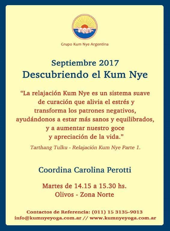 Descubriendo el Kum Nye en Olivos - Zona Norte • Septiembre 2017