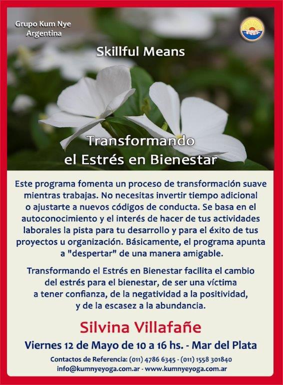 Skillful Means - Transformando el Estrés en Bienestar en Mar del Plata • Mayo 2017