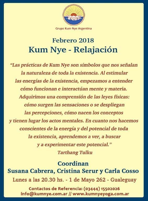 Kum Nye - Relajación en Gualeguay • Febrero 2018