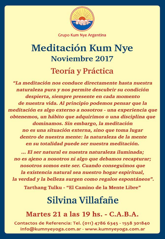 Meditación Kum Nye en C.A.B.A. • Noviembre 2017