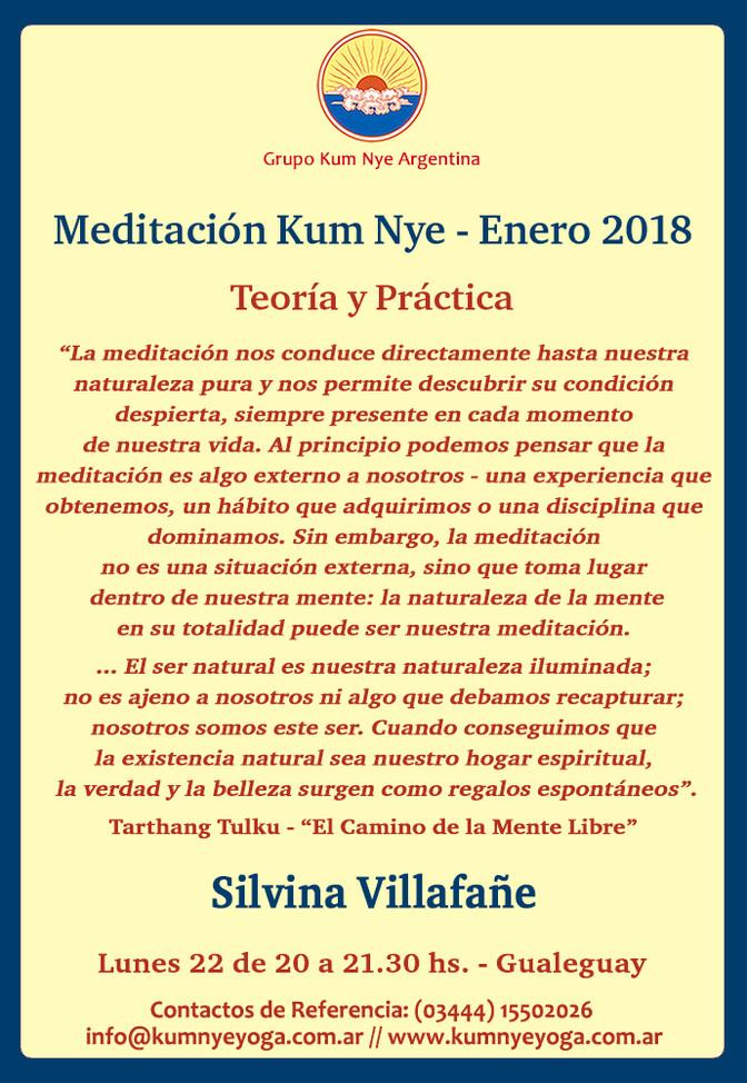 Meditación Kum Nye en Gualeguay • Enero 2018