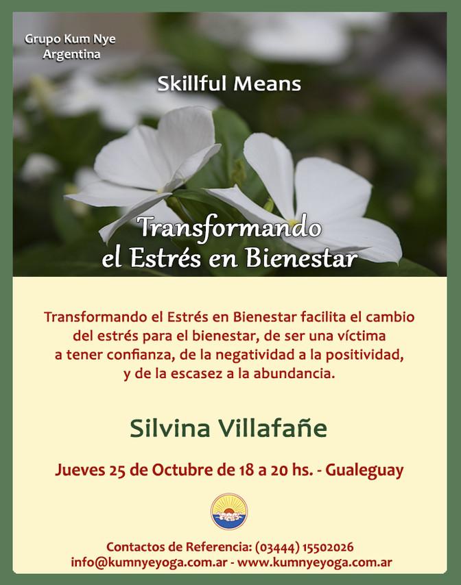 Skillful Means - Transformando el estrés en Bienestar - Octubre en Gualeguay