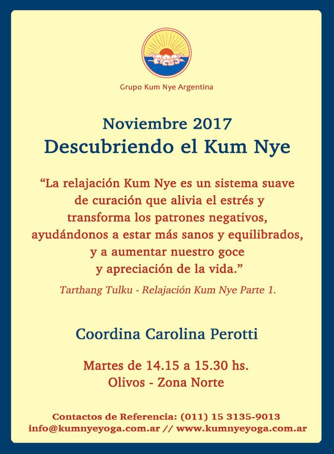 Descubriendo el Kum Nye • Noviembre 2017
