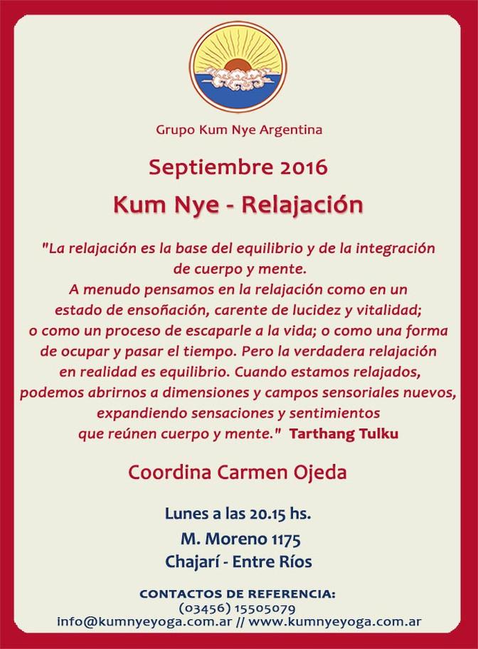 Kum Nye - Relajación en Chajarí • Septiembre 2016