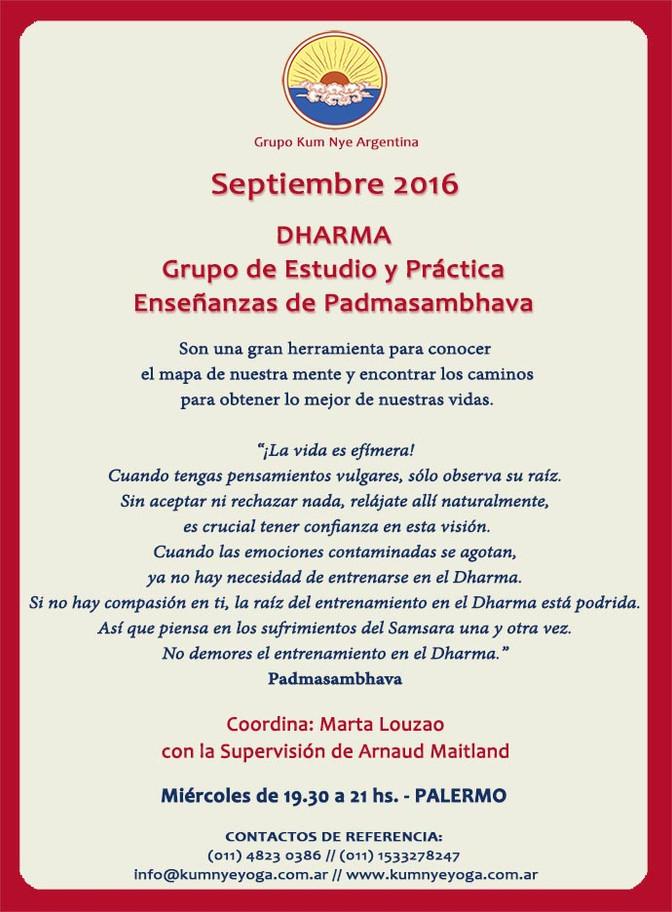 Dharma • Septiembre 2016