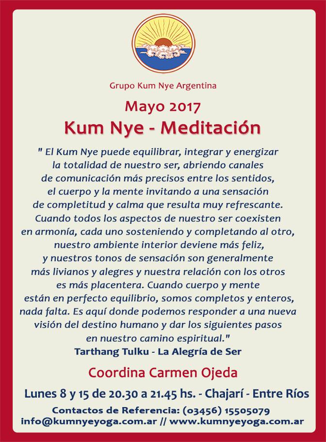 Kum Nye - Meditación en Chajarí - Entre Ríos • Mayo 2017