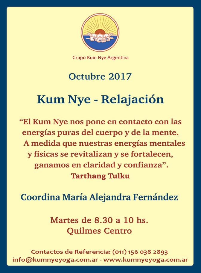 Kum Nye - Relajación en Quilmes Centro • Octubre 2017