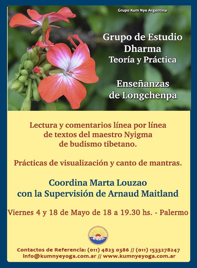 Grupo de Estudio Dharma - Enseñanzas de Longchenpa en Palermo • Mayo 2018