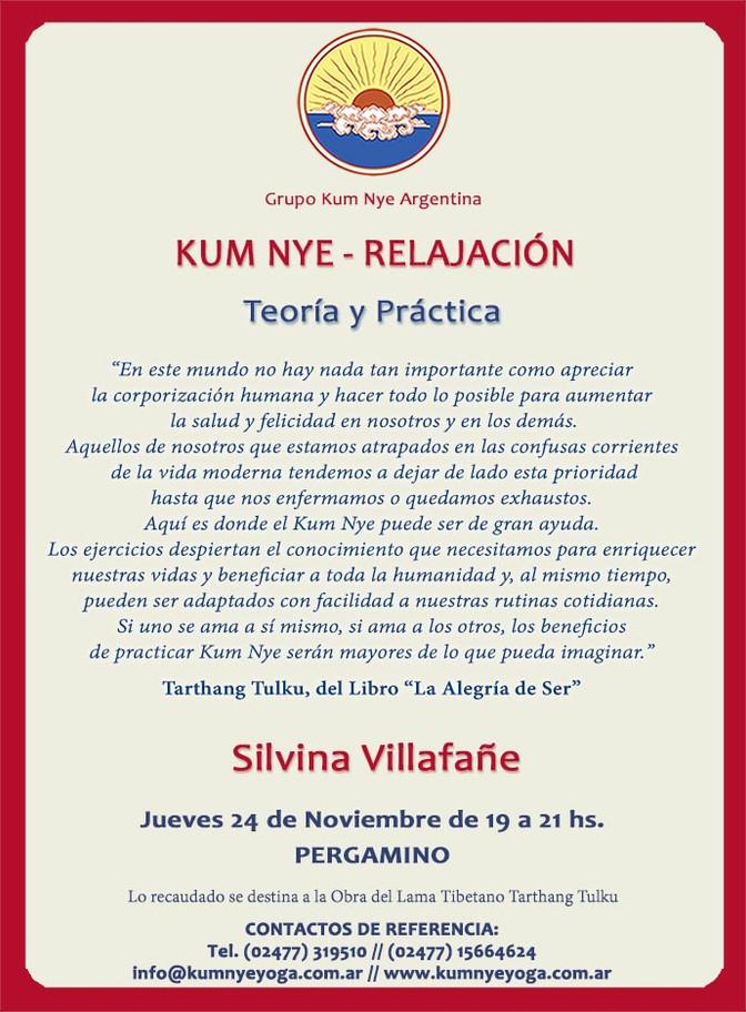 Kum Nye - Relajación en Pergamino • Noviembre 2016