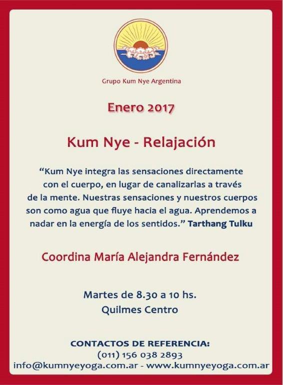 Kum Nye - Relajación en Quilmes Centro  • Enero 2017