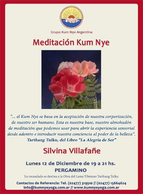 Meditación Kum Nye en Pergamino • Diciembre 2016