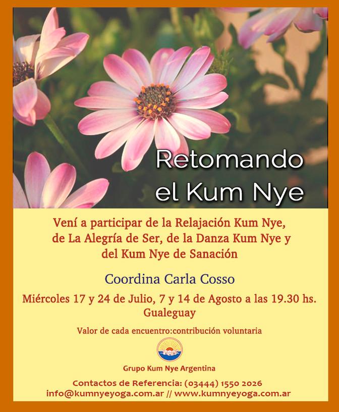 Retomando el Kum Nye - Gualeguay- Práctica de días Miércoles - Agosto 2019