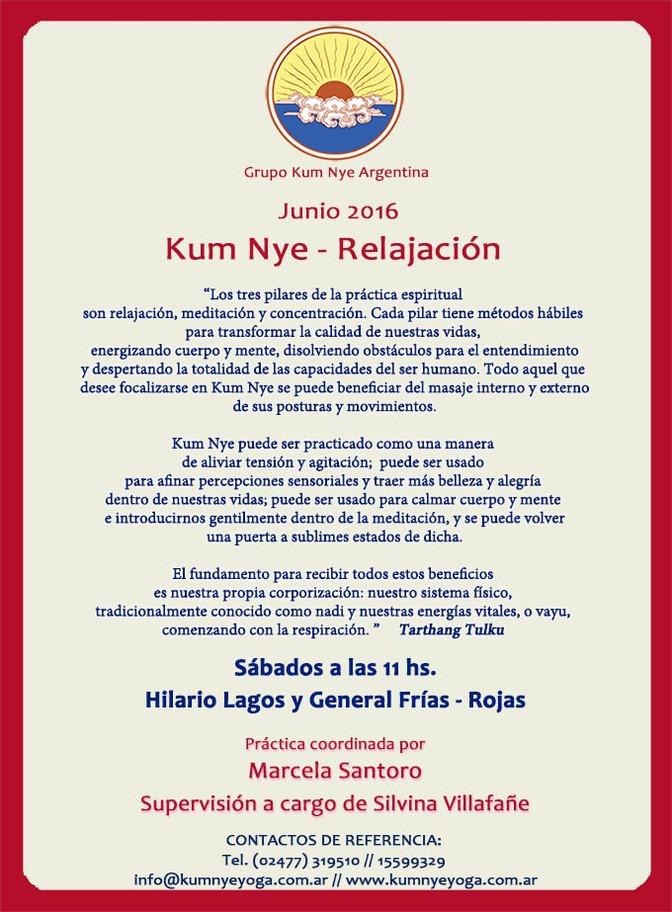 Kum Nye - Relajación en Rojas • Junio 2016