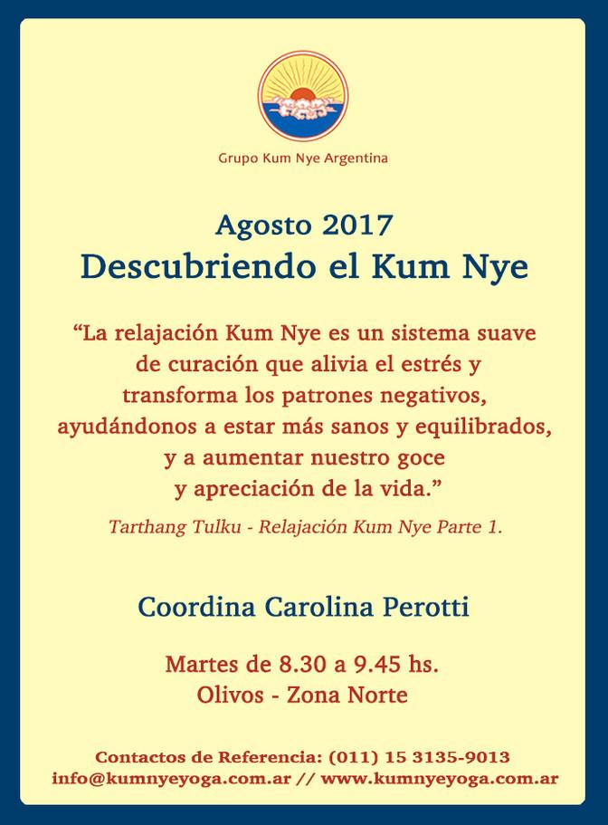 Descubriendo el Kum Nye - Olivos  • Agosto 2017