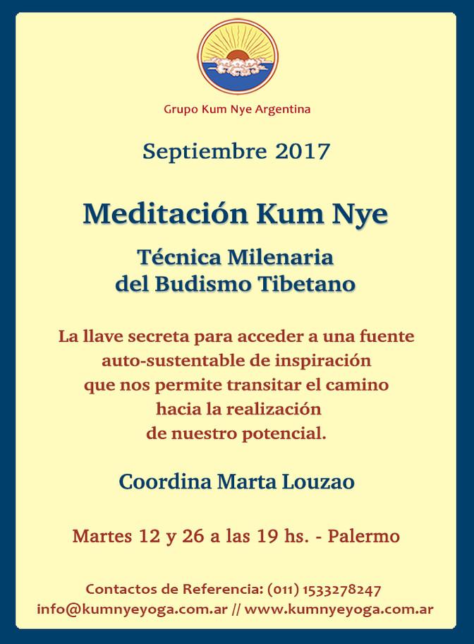 Meditación Kum Nye - Palermo • Septiembre 2017