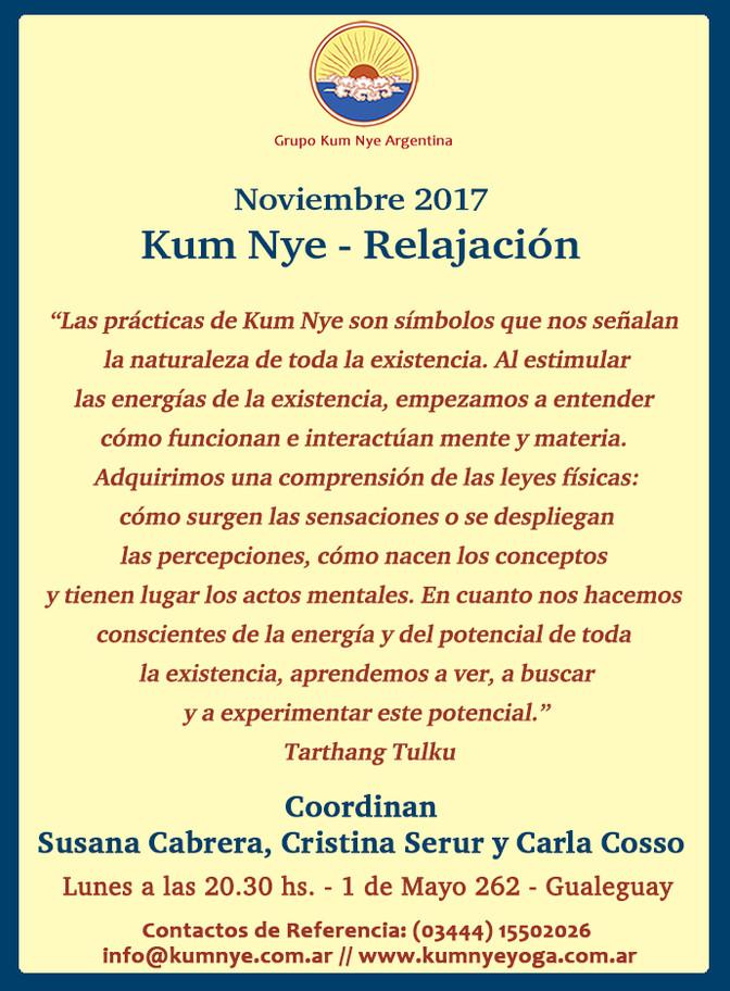Clases de Kum Nye - Relajación en Gualeguay • Noviembre 2017