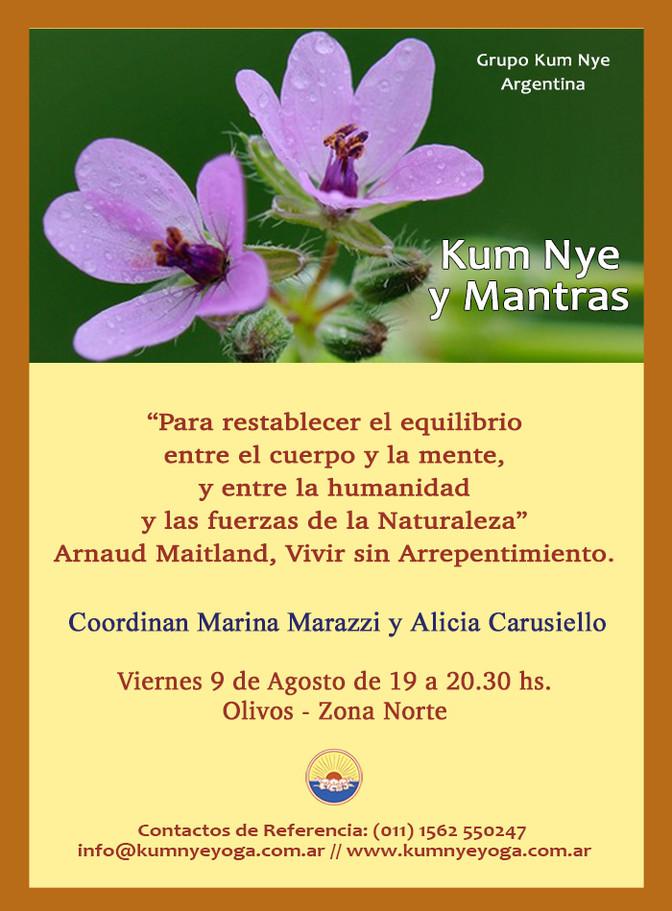 Kum Nye y Mantras en Olivos - Zona Norte - Agosto 2019
