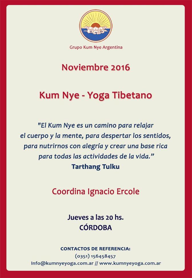 Kum Nye - Yoga Tibetano en Córdoba • Noviembre 2016